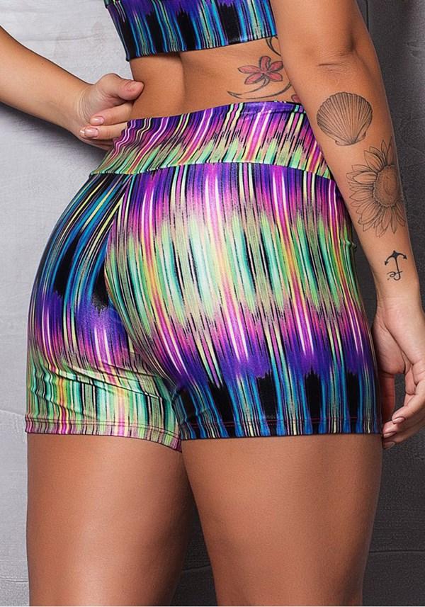 Short cirrê estampado frequency colors