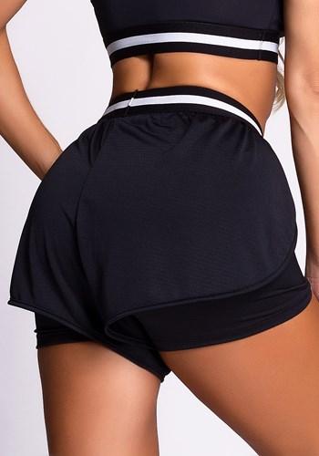 Short dry fit preto com elástico