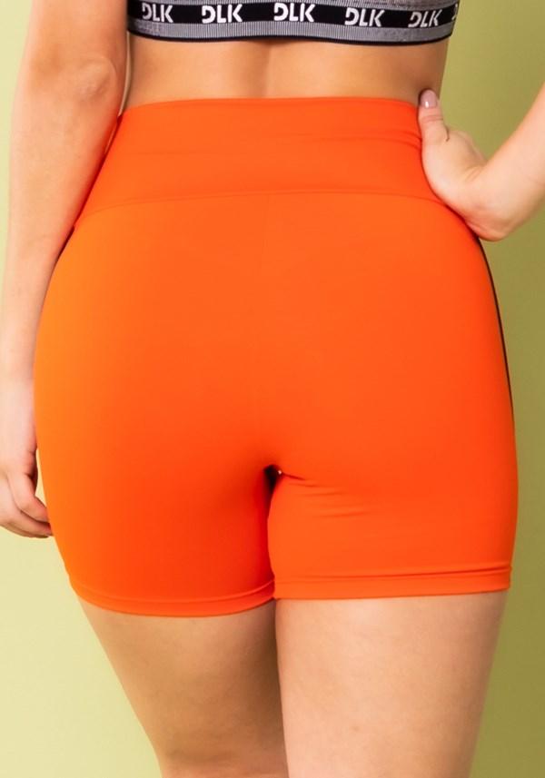 Short energy poliamida laranja com elástico