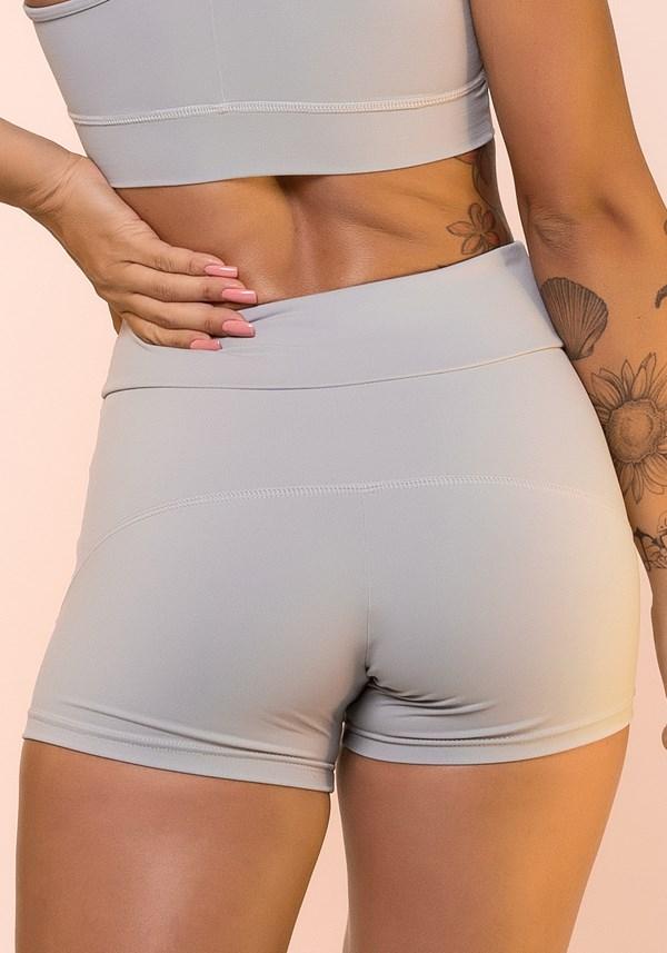 Short fitness cinza com cadarço básico
