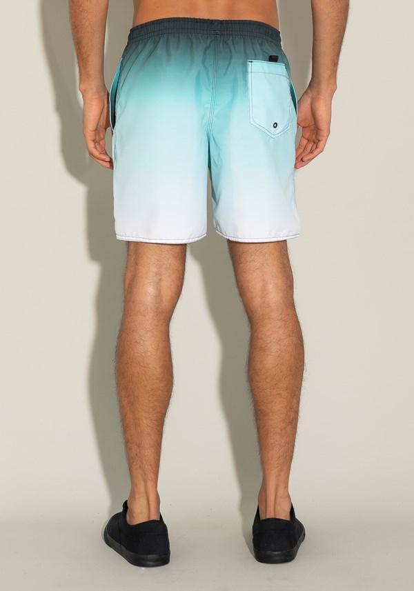 Short for men com bolso e cadarço estampa degradê azul