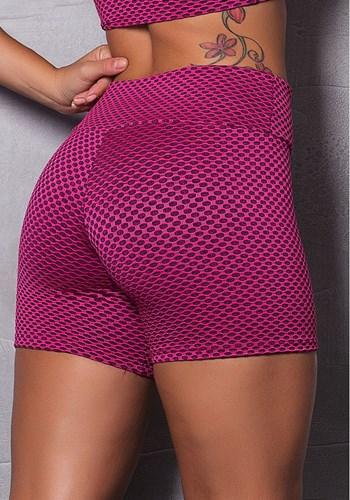 Short poliamida texturizado pink