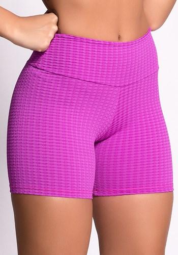 Short poliamida texturizado rosa