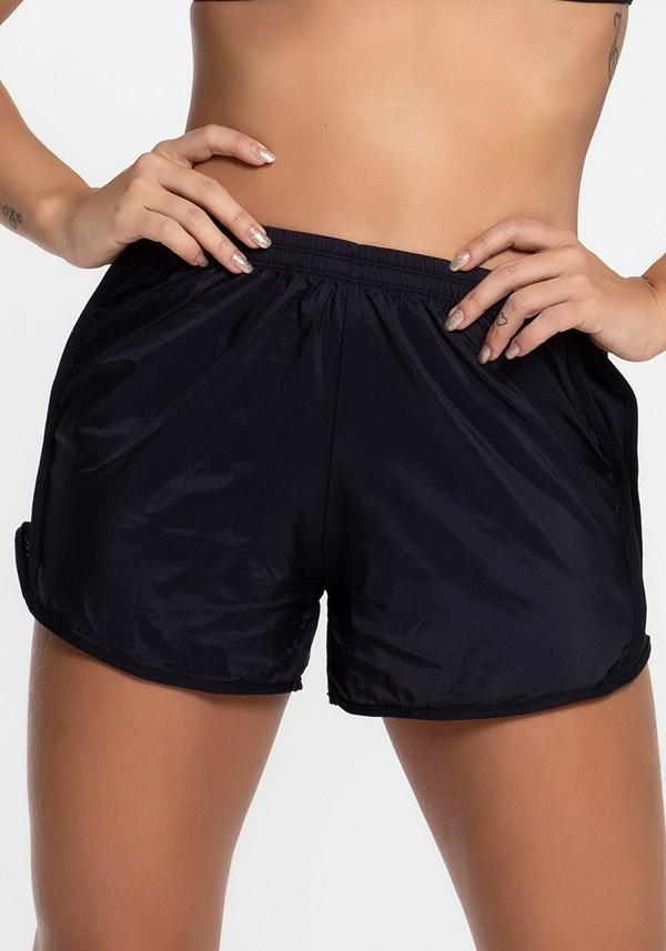 Short preto running com dry fit
