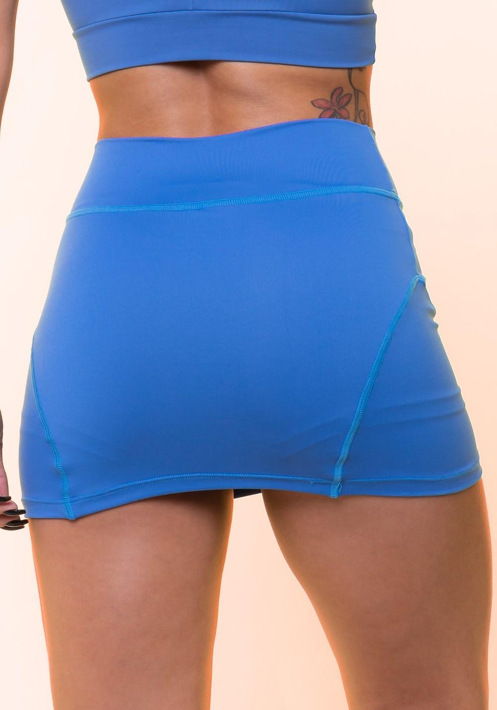 Short saia azul básico