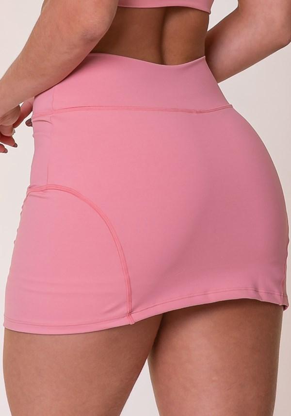Short saia basic rosé básico
