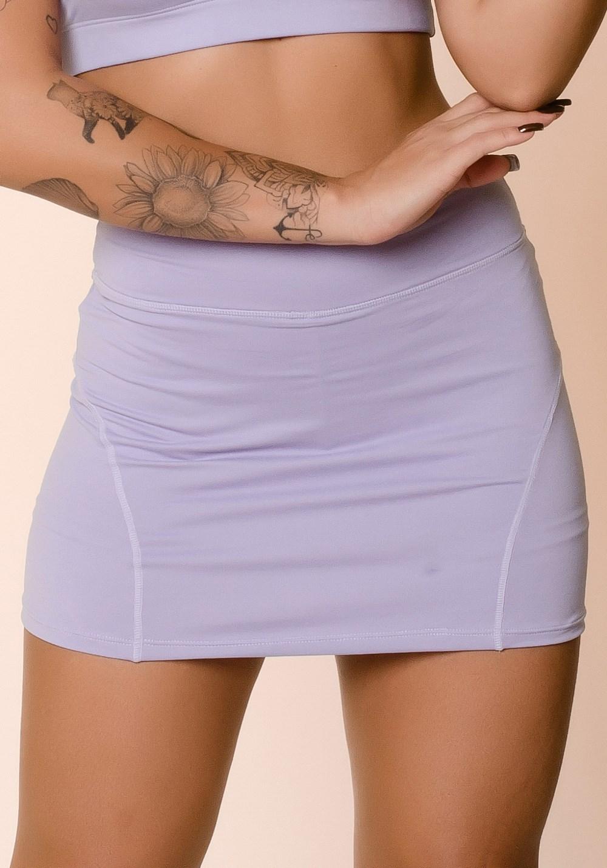 Short saia lilás básico