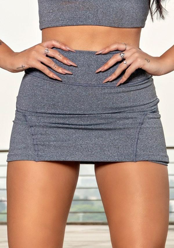 Short saia mescla básico