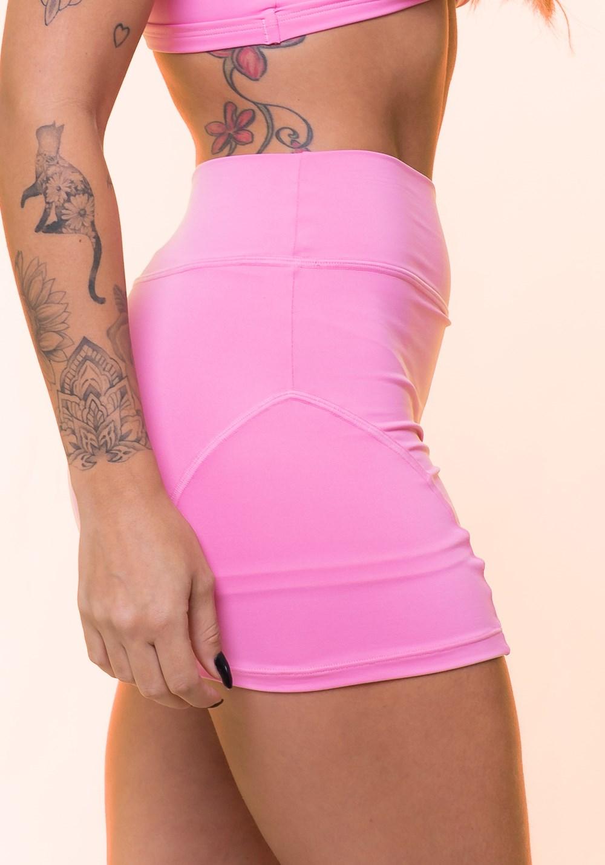 Short saia rosa básico