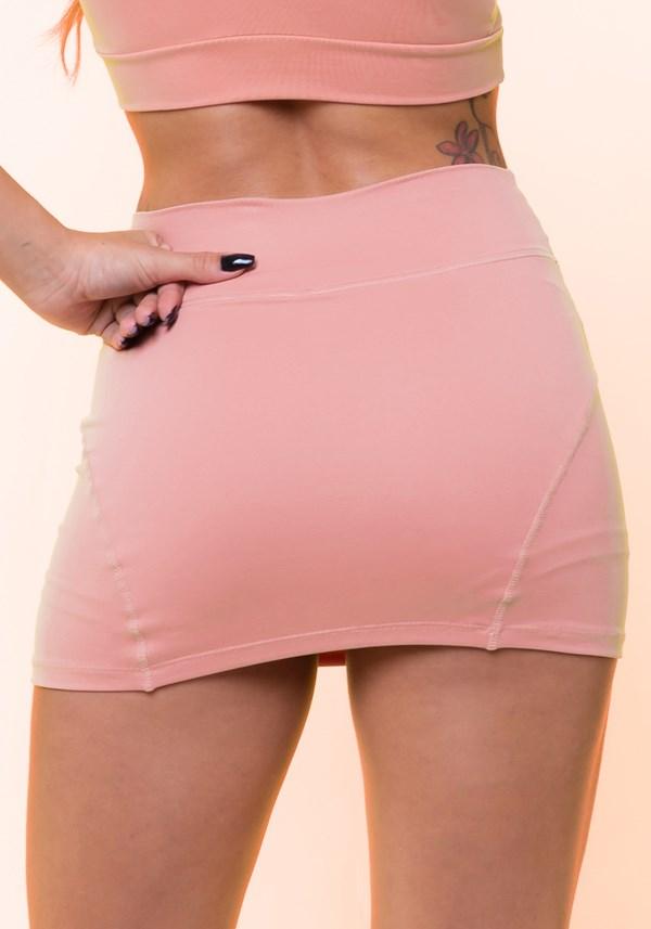 Short saia rosê básico