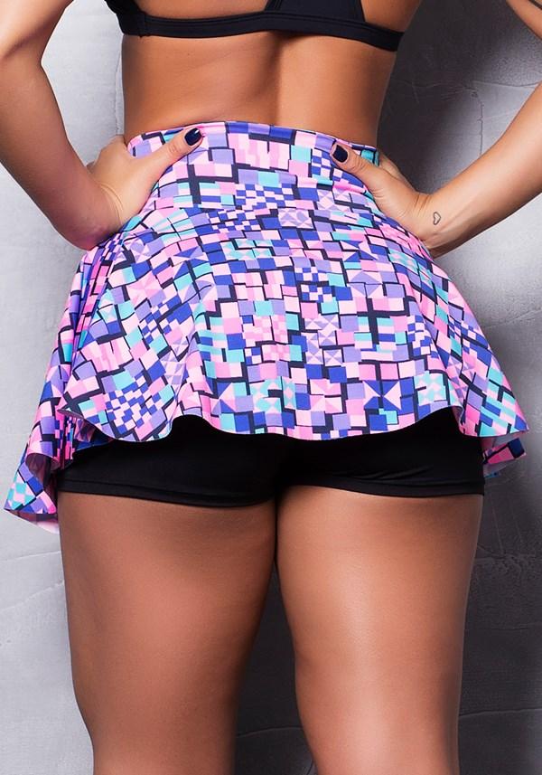Short saia suplex estampado colors