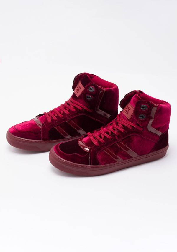 Sneaker burgundy velvet