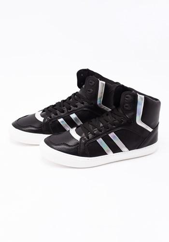 Sneaker couro ecológico holografic