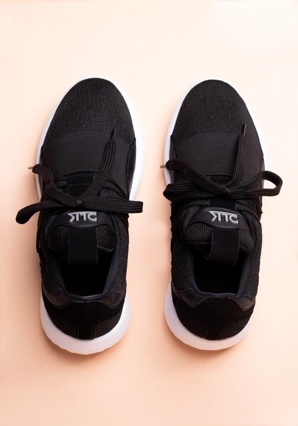 Tênis basic preto com elástico