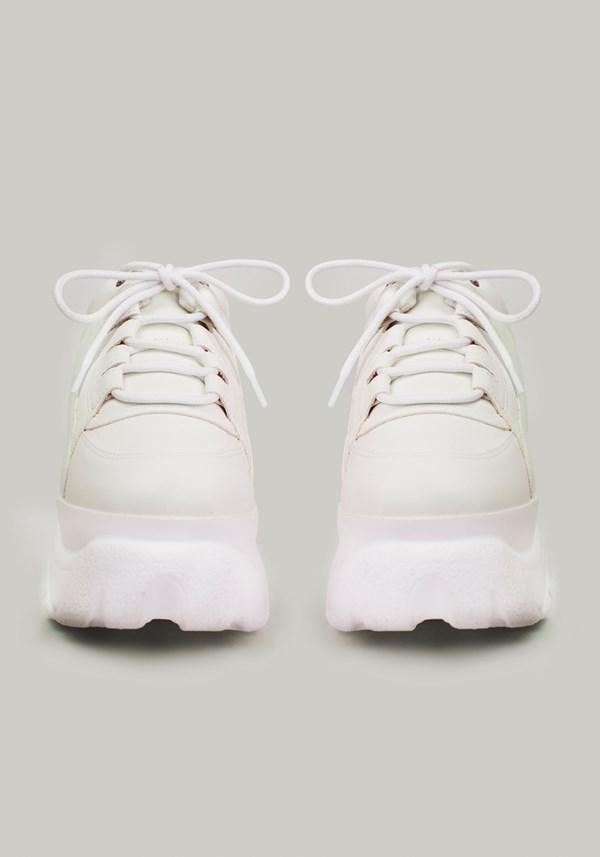 Tênis chunky com recortes branco