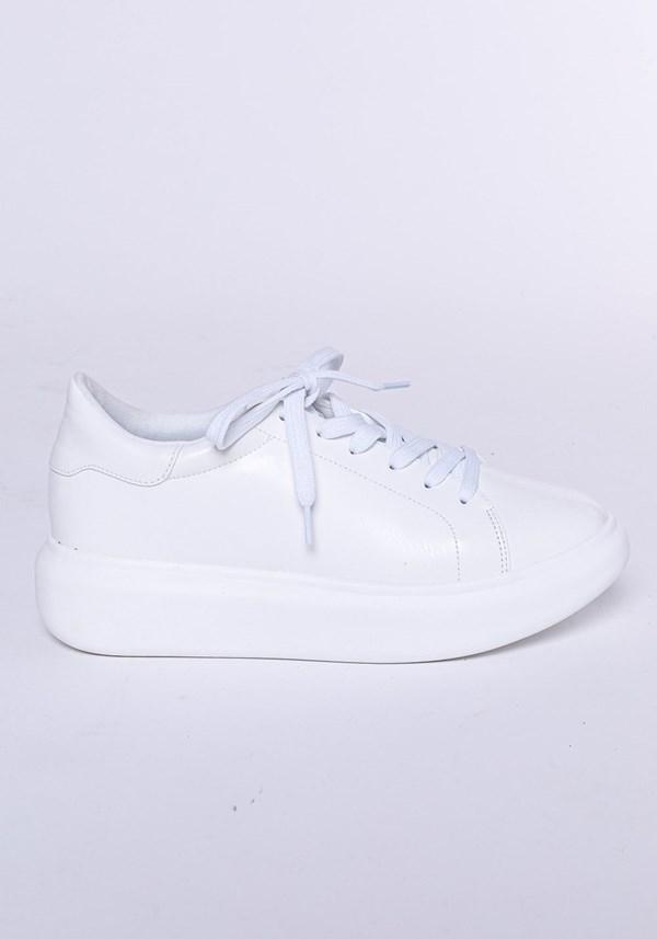 Produto Tênis modelo calf shoes com cadarço branco