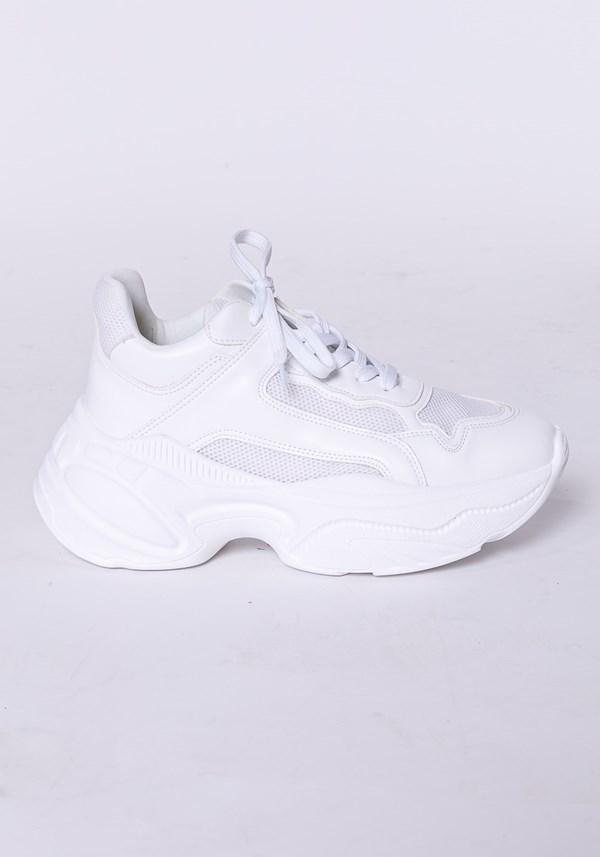Tênis modelo skin shoes em tela branco