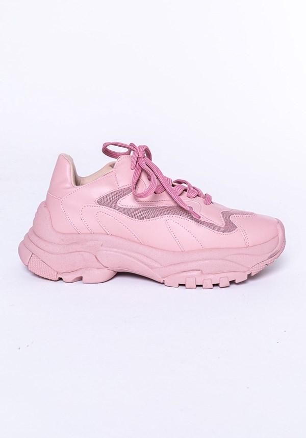 Produto Tênis modelo skin shoes em tela rosa