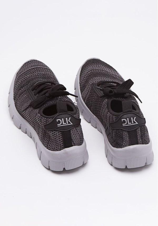 Tênis run elastic preto e cinza life style