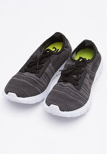 Tênis run preto e neon life style