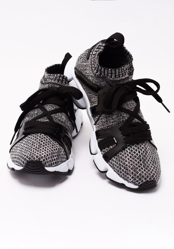Tênis sock cinza mescla