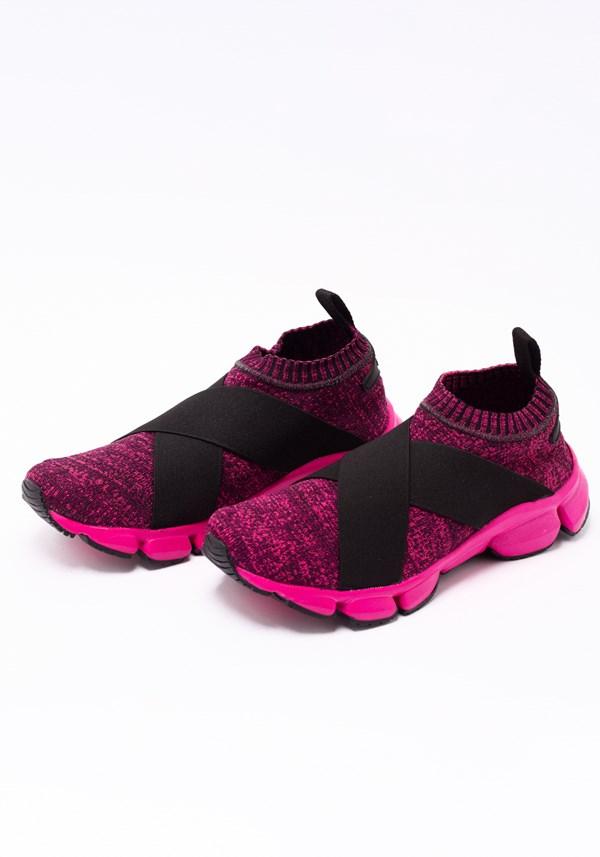 Tênis sock pink mescla elastic