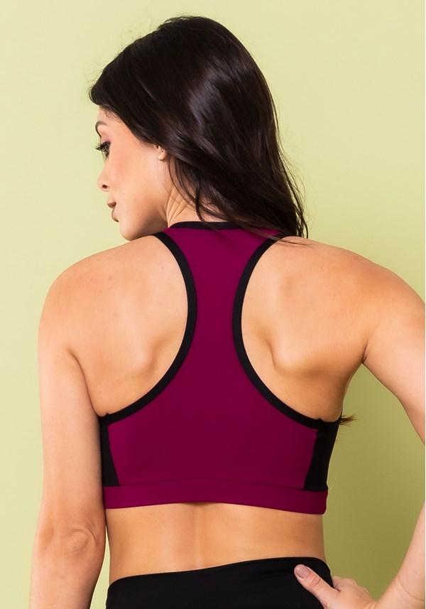 Top fitness energy nadador roxo com preto