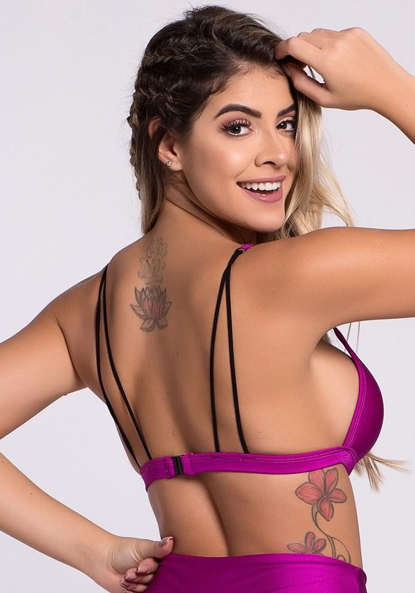 Top purple com bojo e tiras