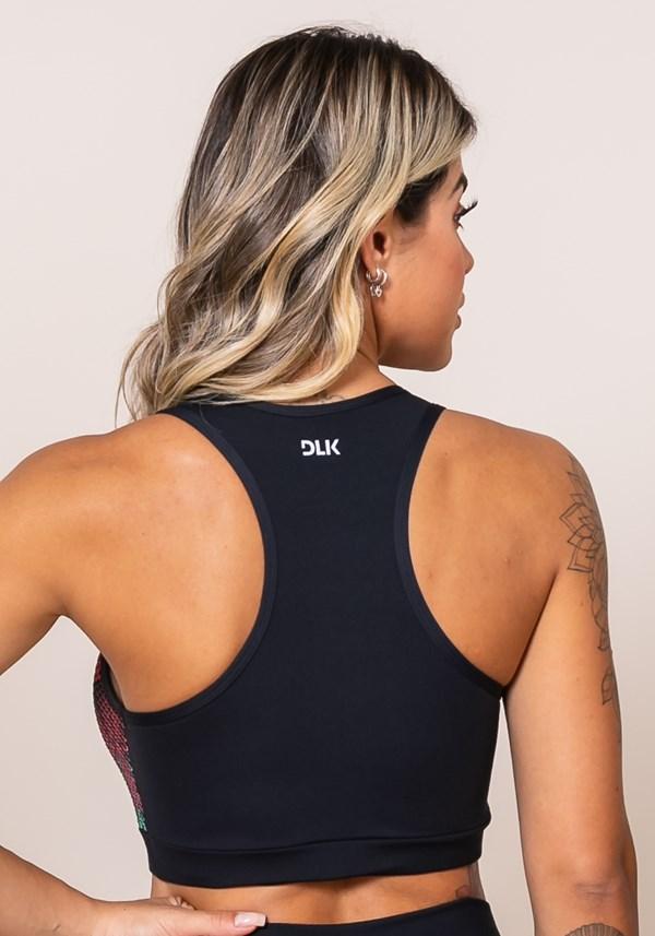 Top sem bojo modelo nadador printed em tela sublimada