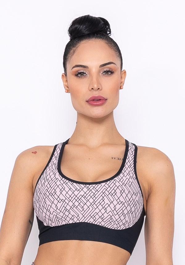 Top sem bojo modelo nadador technology com recortes nude
