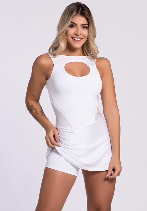 Vestido fitness tex branco